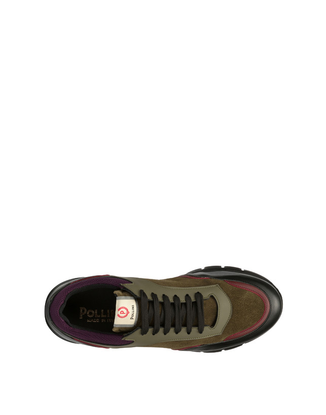 Court leather and calf leather sneakers Photo 3