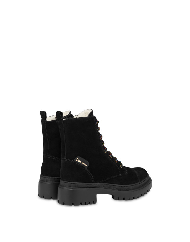 Combat boot in Mountain Forest split leather Photo 3