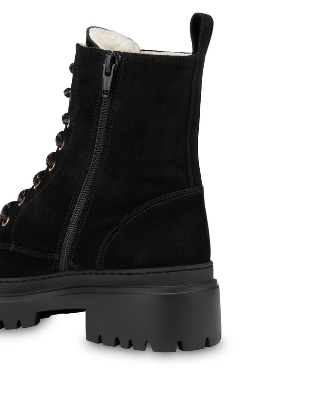 Combat boot in Mountain Forest split leather Photo 4