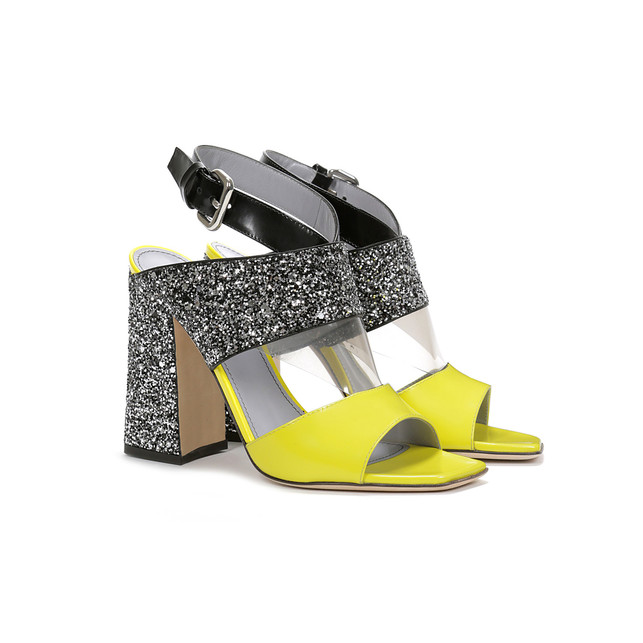 Sandals Yellow/titanium grey/silver/black