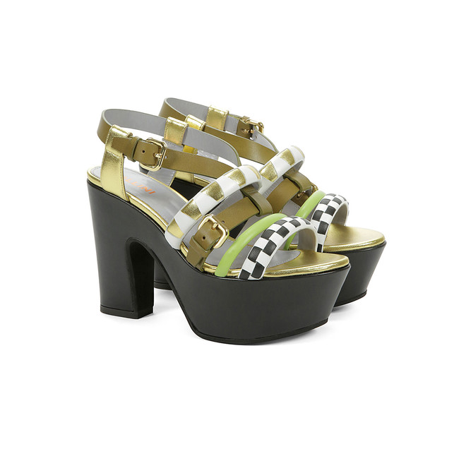 Wedges Olive/gold/pistil/black