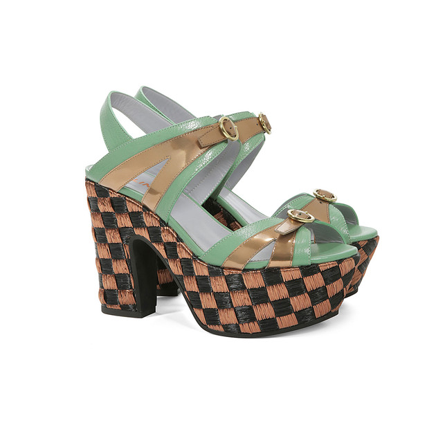 Wedges Grass/copper/bronze
