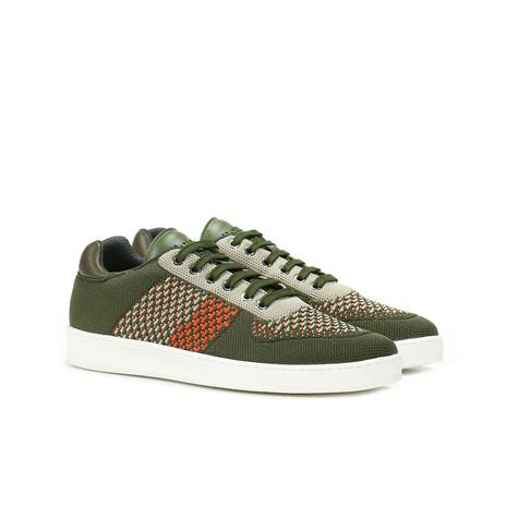 Sneakers Militare-sabbia-arancio