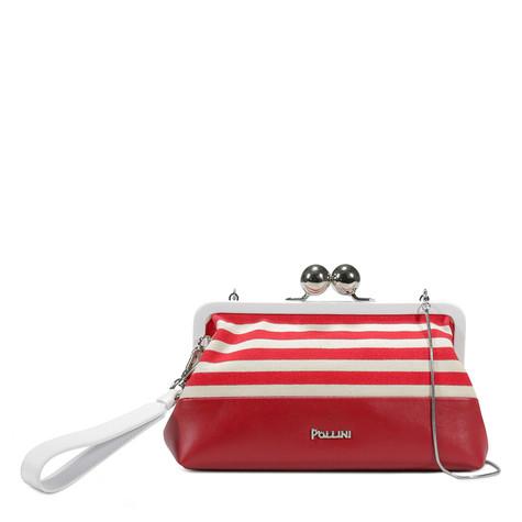 Pochette Bianco-rosso/cherry/bianco