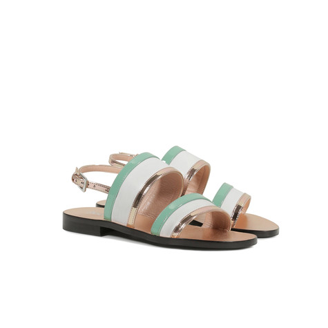 Sandali Bianco/acqua/quarzo