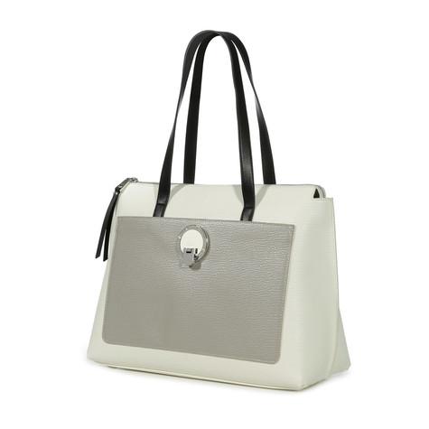 Shopping Bianco/argento/nero