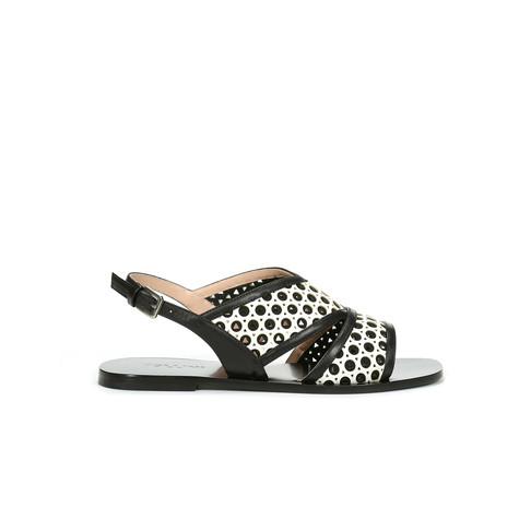 Sandali Bianco-nero/nero