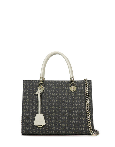 Shopping bag Black/ivory