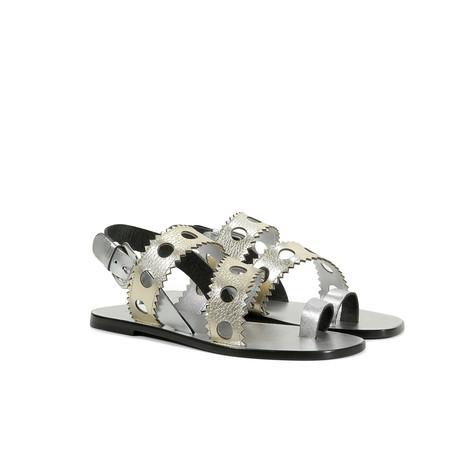 Sandali Platino-argento/argento