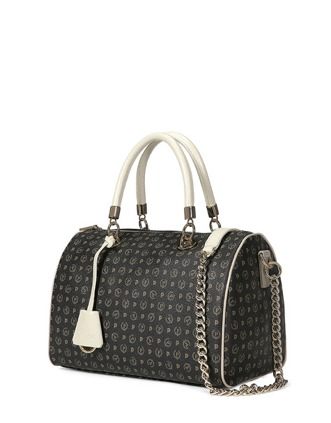 Boston bag Black/ivory