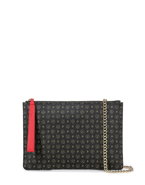 Clutch bag Black/laky red