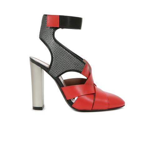 Sandali Rosso/platino/nero