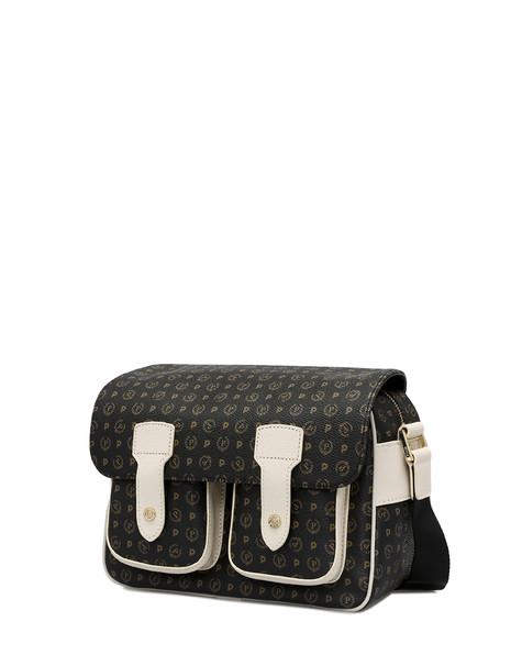 Messenger bag Black/ivory