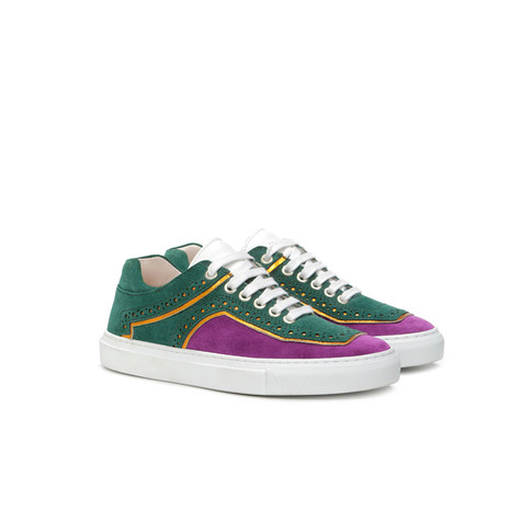 Sneakers Orchid/green/mustard