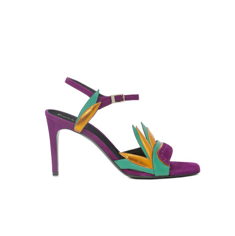 Sandals Orchid/mustard/green