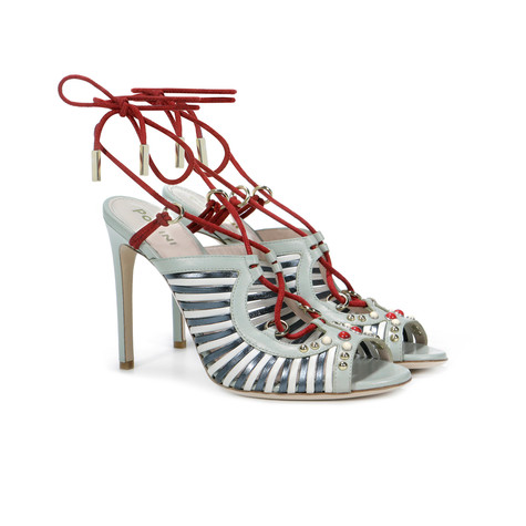 Sandals Anise/white/red/grey