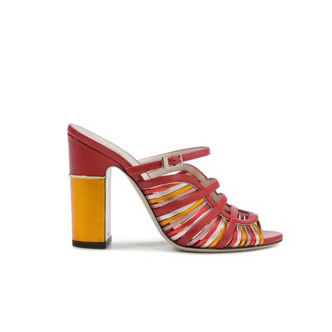 Sandali Rosso/senape/quarzo/rosso/rosa
