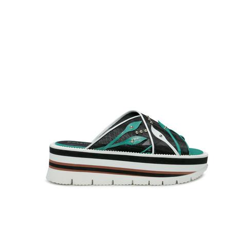 Sandali Nero/bianco/verde