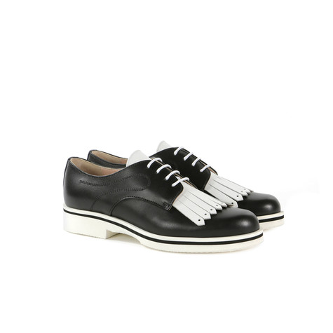 Derby shoes Black/white