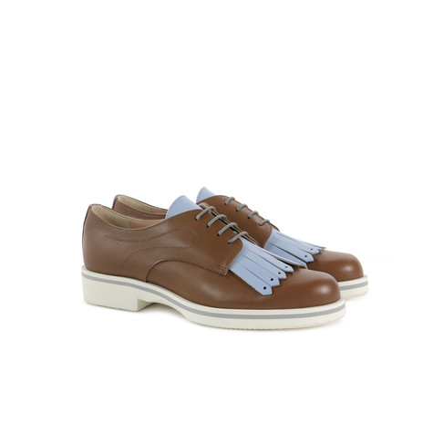 Derby shoes Hide/sky