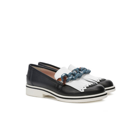 Loafers Black/white