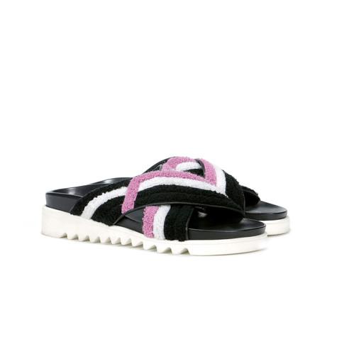 Sandali Nero-bianco-cipolla