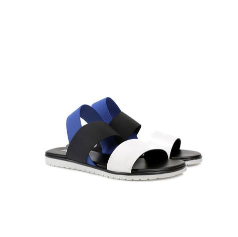 Sandali Bianco/nero/bluette