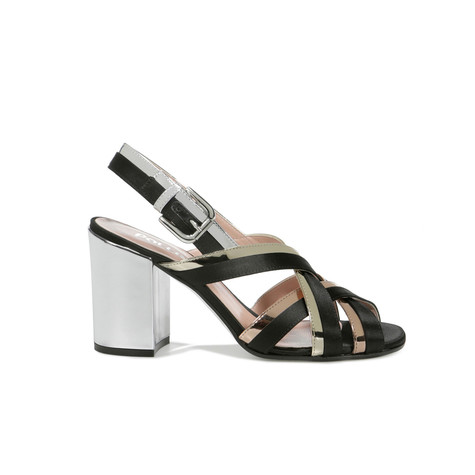 Sandali Nero/quarzo/platino/argento
