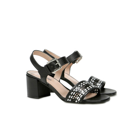 Sandali Nero-bianco-argento/nero