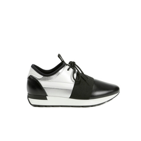 Sneakers Argento/nero/nero/bianco/nero/nero