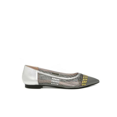 Ballerine Pietra-cedro-argento/argento