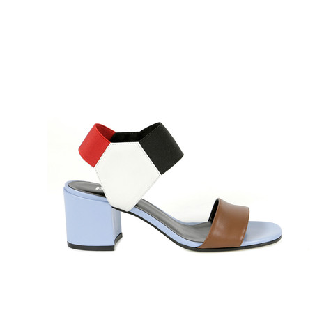 Sandals Hide/white/sky/black/red