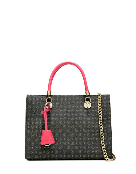Shopping bag Black/fuchsia