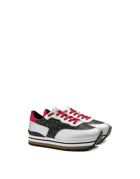 Sneakers Nero/argento/fuxia