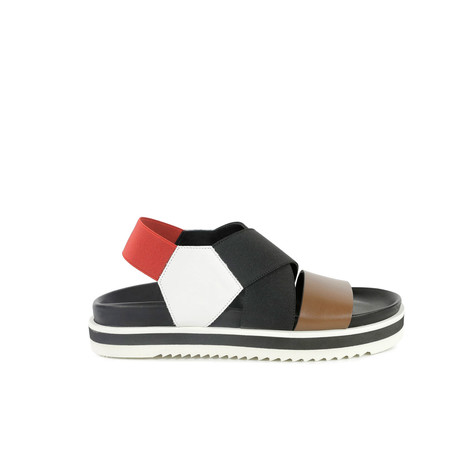 Sandals Hide/white/black/red