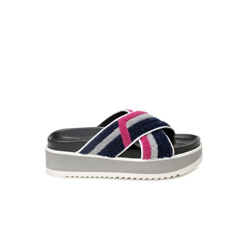 Sandali Oceano-pietra-ciclamino/bianco