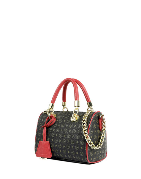 Boston bag Black/laky red