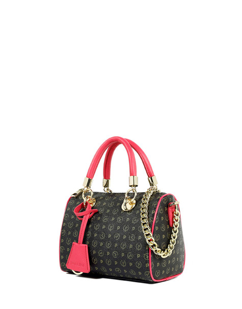 Boston bag Black/fuchsia