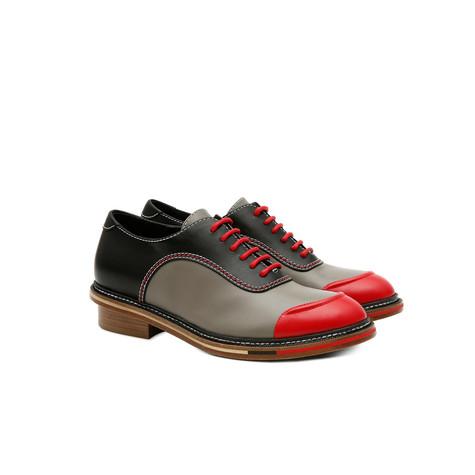 Brogues Red/grey/black
