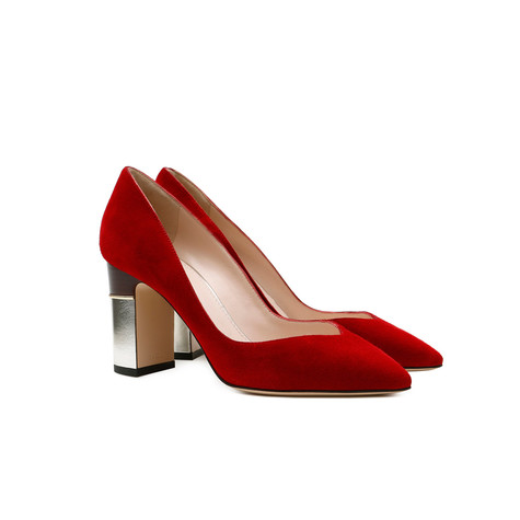 Pumps Red/silver