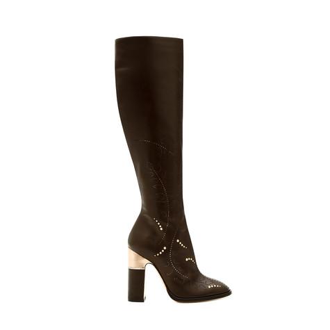 Boots Dark brown/brass