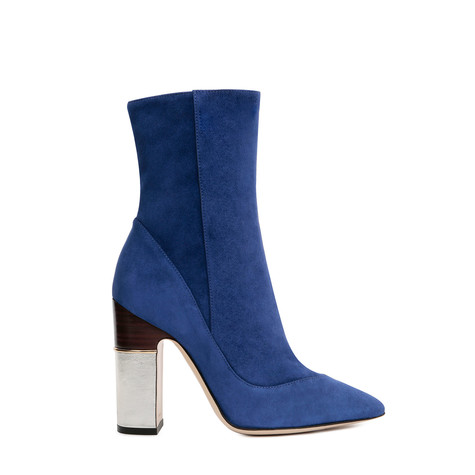 Ankle boots Electric blue/silver