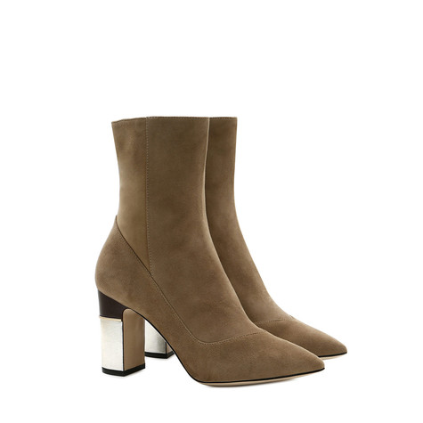 Ankle boots Mud/silver