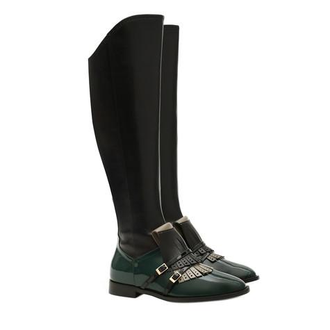 Boots Black/grey/black/teal/black