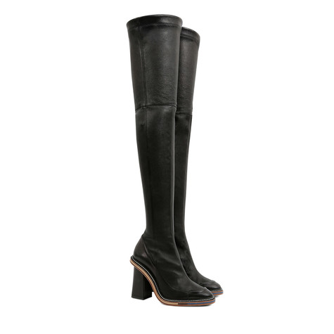 Over-the-knee boots Black/black
