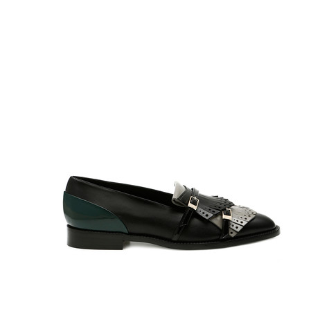 Loafers Black/grey/black/teal/black