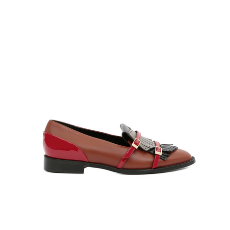 Loafers Hide/black/grey/red/red