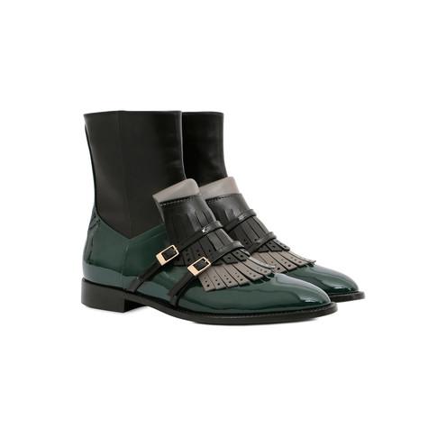 Ankle boots Black/grey/black/teal/black