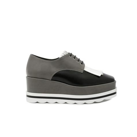 Derby shoes Black/white/lead