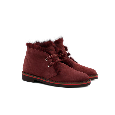 Desert boots Burgundy/burgundy